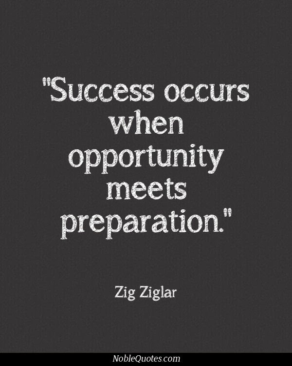 Quote Success Is When Preparation Meets Opportunity: Success Occurs When Opportunity Meets Preparation