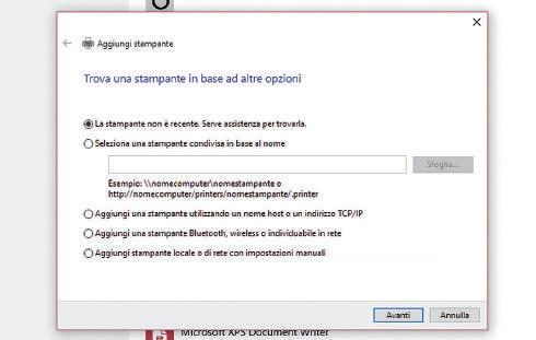come aggiungere stampante windows 10