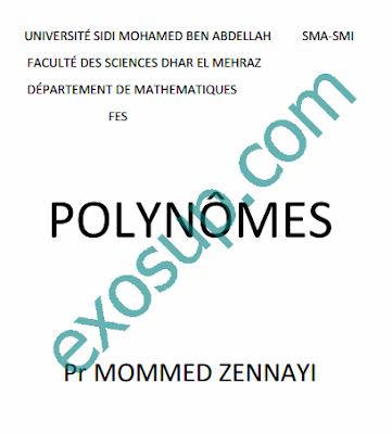cours smia s1 algèbre 2 polynômes