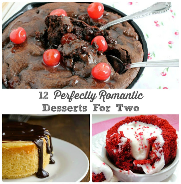 From chocolate to cupcakes to cobbler, you are sure to find the perfect dessert in just the right portion size for a date night-in with these 12 Perfectly Romantic Desserts for Two.