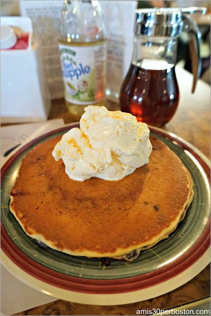 Stuart and John's Sugar House: Blueberry Pancakes $6.79 Add Ice Cream $2.50