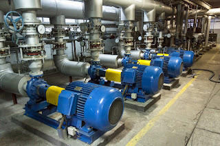 Multiple industrial pumps