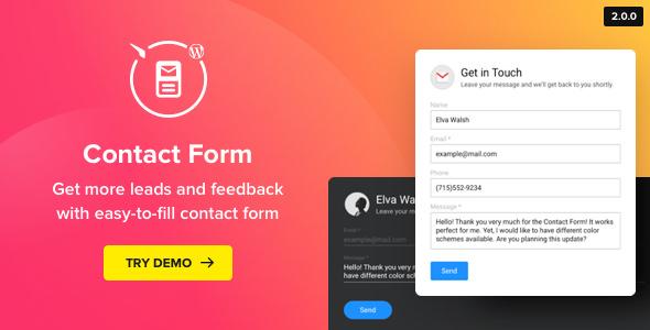Contact Us Form v2.0.0 – WordPress Contact Form Plugin