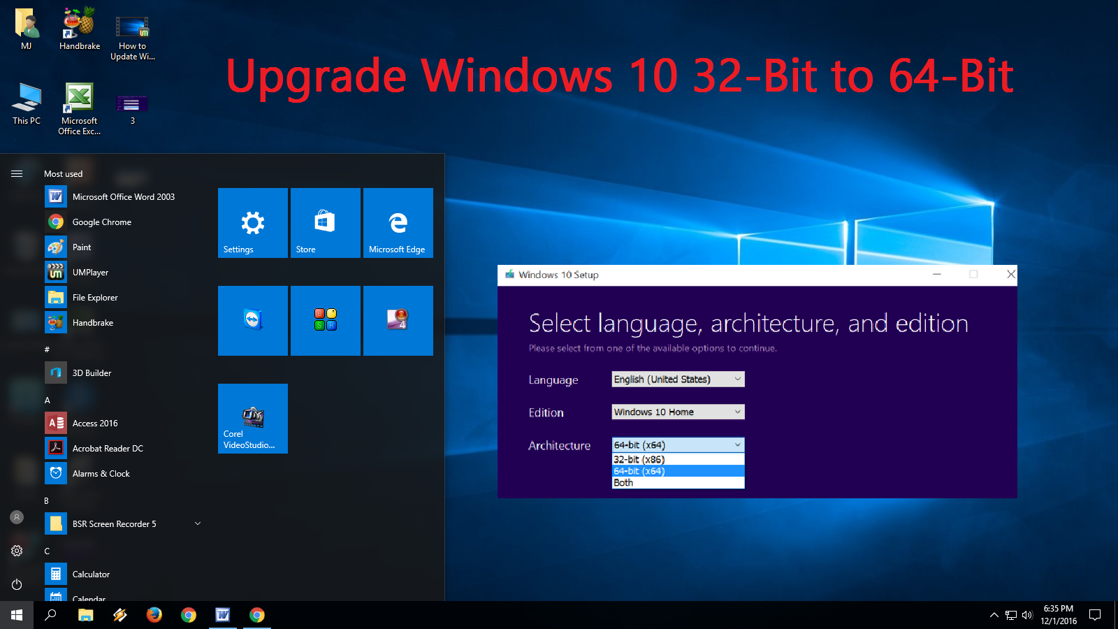 Learn New Things: How to Upgrade Windows 10 32-Bit to 64-Bit (Free)