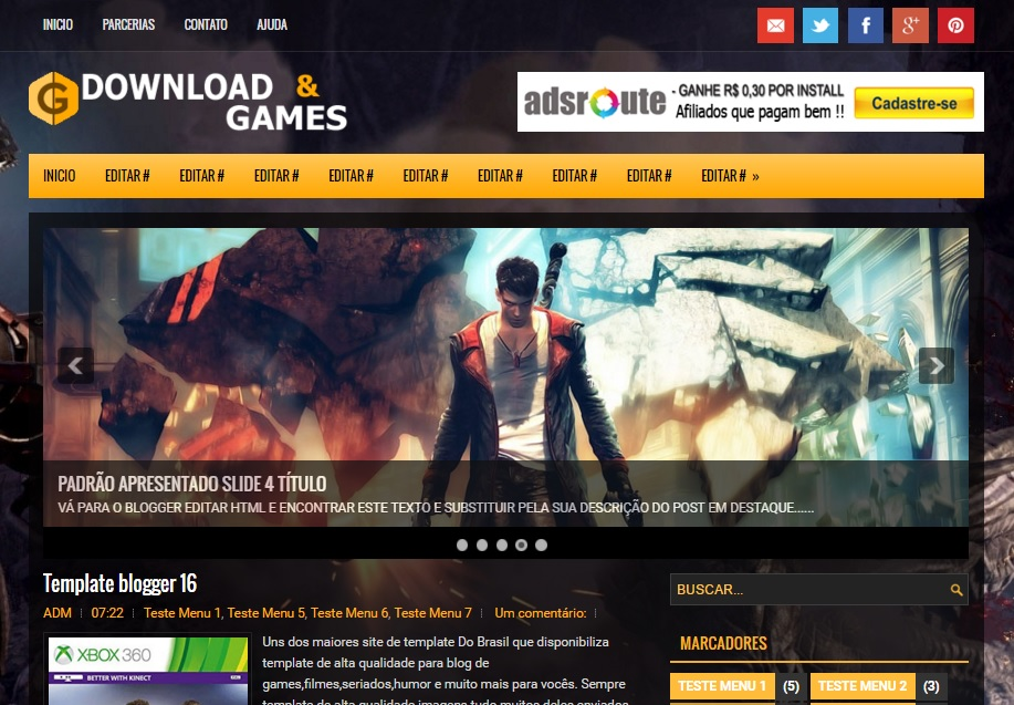 Games Template - BTemplates - video game template