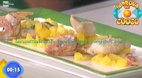 Triglie fritte con composta di pesche ricetta Bottega da Prova del Cuoco