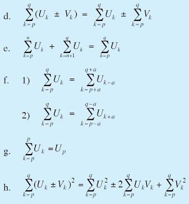 Untuk Uk dan Vk adalah rumus umum suku ke-k dan p, q