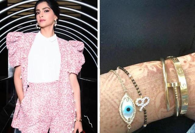 Sonam Kapoor Wear Mangalsutra Around Wrist