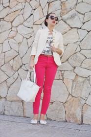 conjunto en beis rosa fluor beige neon