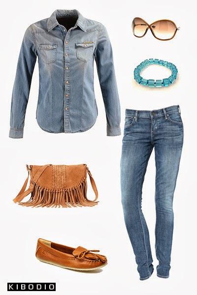 Chemise en jean : look 3