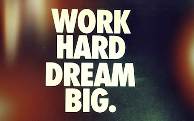 short inspirational quotes: work hard dream dig.