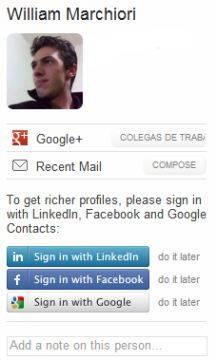 Saiba mais sobre seus contatos do Gmail