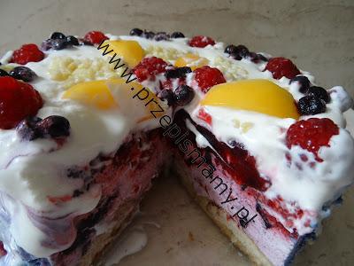 Tort lodowy owocowy