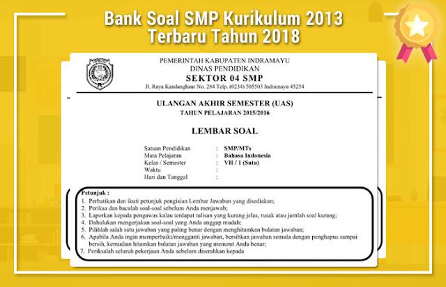 Bank Soal SMP Kurikulum 2013