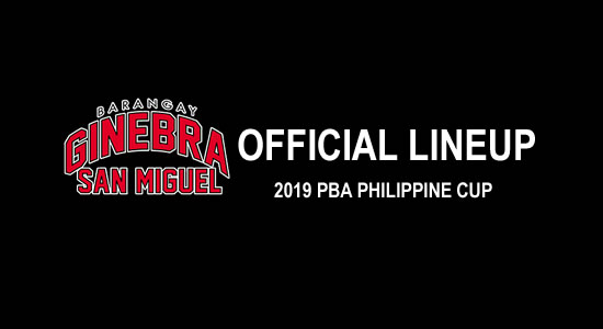 LIST: Barangay Ginebra San Miguel Official Lineup 2019 PBA Philippine Cup