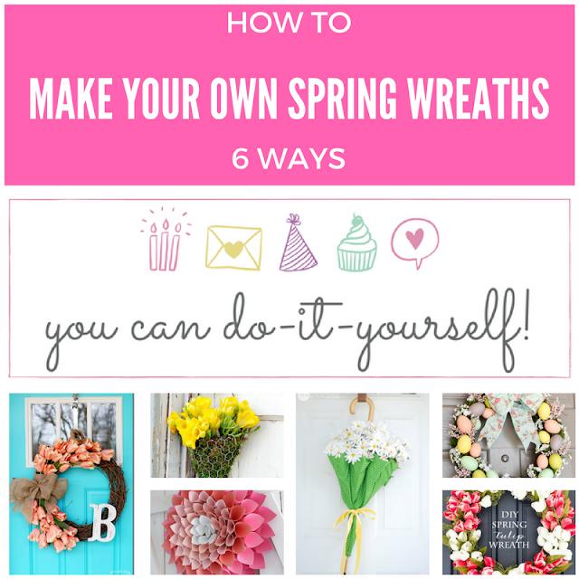 6 DIY Spring Wreaths