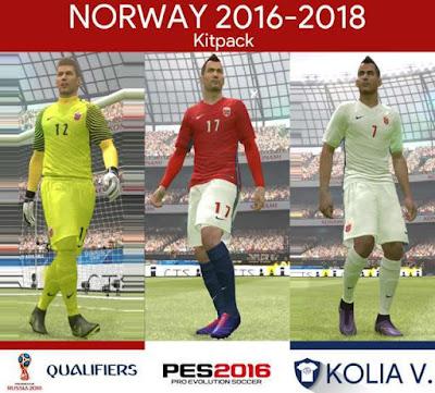 PES 2016 Norway Kit Season 2016/18