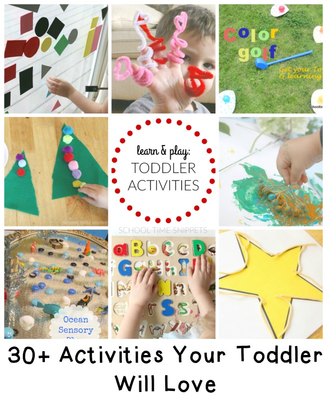 big list toddler activities