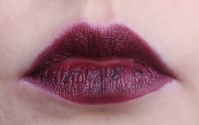 Photo of the Mirana Lipstick from the Urban Decay Alice Through the Looking Glass Collection on my lips