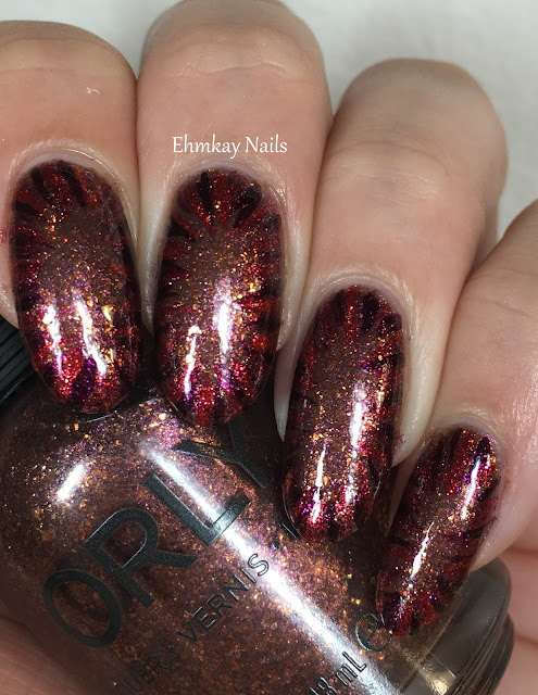 Ehmkay Nails Happy New Year S Eve Nail Art Stamping: Ehmkay Nails: Orly Meet Me At Mulholland With Autumn