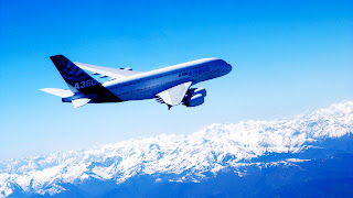 Airbus A380 Plane Blue Sky High Mountains HD Wallpaper