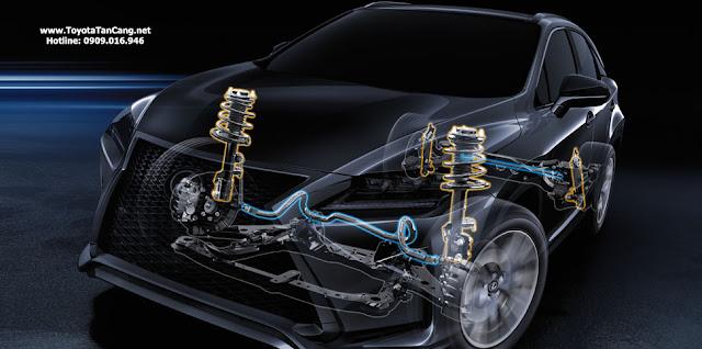 Hệ thống treo tự thích ứng liên tục điều chỉnh lực giảm chấn, đem đến khả năng điều khiển tối ưu trên mọi hành trình.