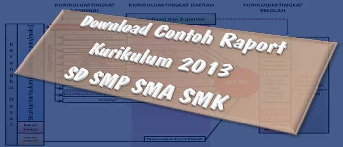 Download Contoh Raport Kurikulum 2013 SD SMP SMA SMK
