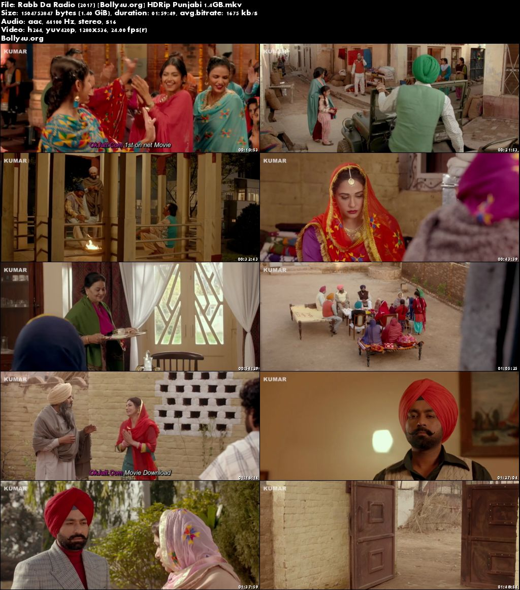 Rabb Da Radio 2017 HDRip 720p Full Punjabi Movie Download
