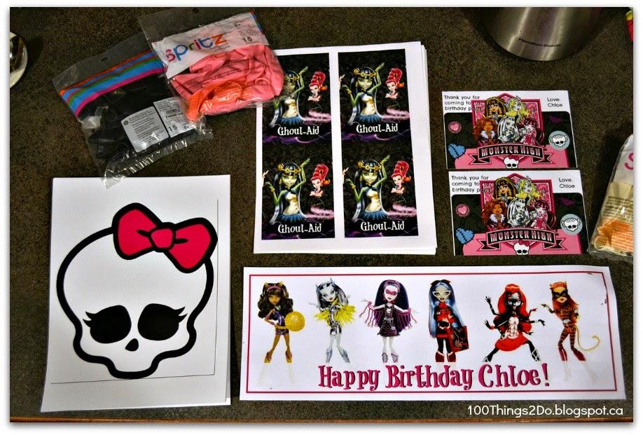 Monster High birthday, Monster High decorations, make your own birthday decorations, birthday decorations, Monster High birthday