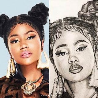 10 Work art Of Nicki Minaj Chun Li and Barbie Tingz