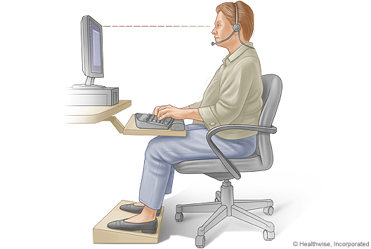 siting position while typing