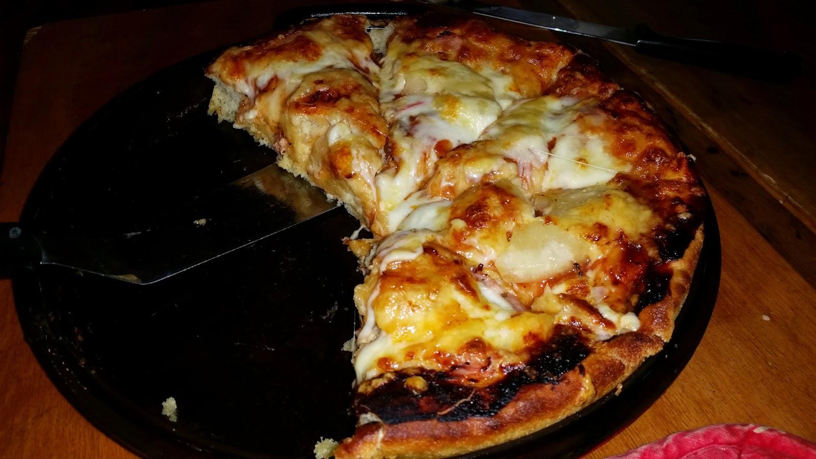 pan pizza recept bakpulver