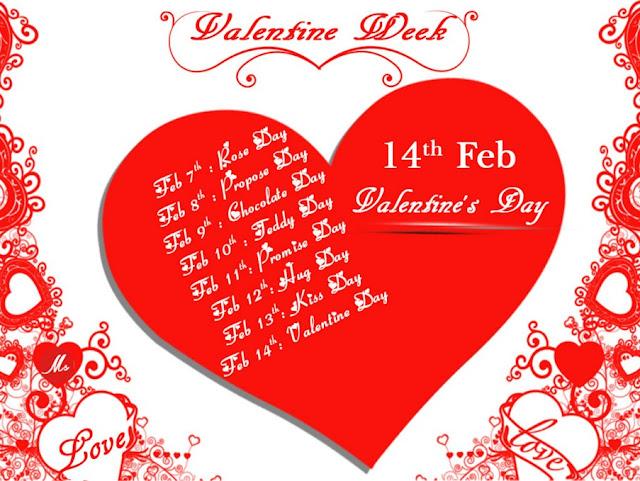 Valentine Week Days 2016 Complete List - Days of Valentine Week