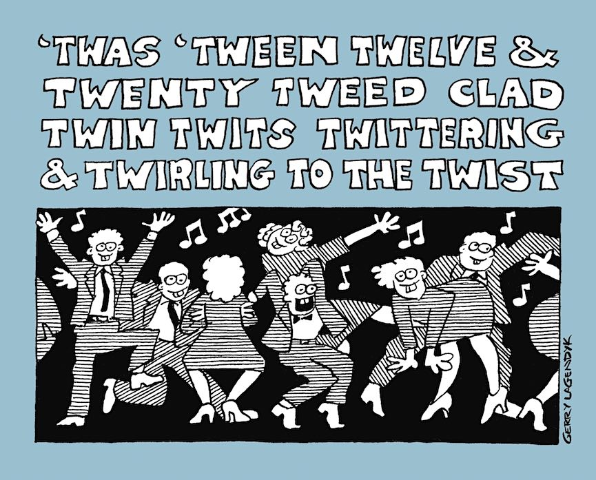 twin twits, a cartoon by Gerry Lagendyk
