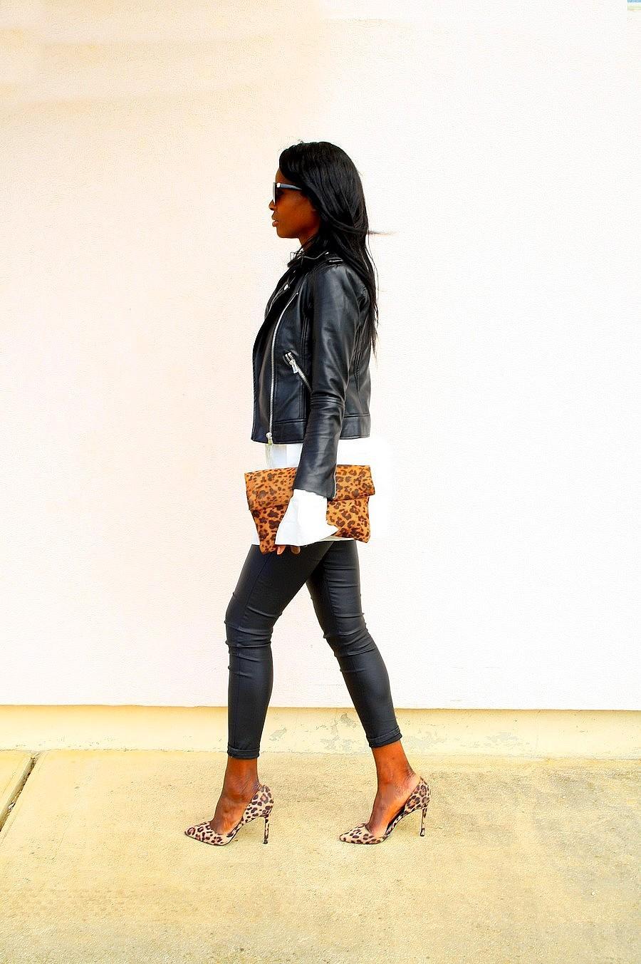 look-du-jour-chic-rock-perfecto-mango-pantalon-cuir-escarpins-leopard