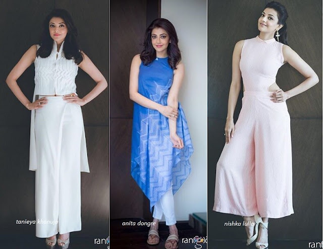 Kajal Aggarwals outfits for Sardaar Gabbar Singh Promotions