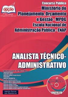 Apostila Ministério do Planejamento MP/Enap 2015 Analista Técnico Administrativo.
