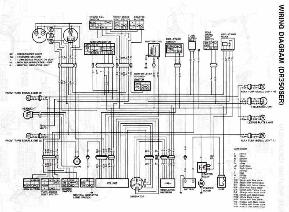 Suzuki DR350S Electrical Wiring Diagram | All about Wiring