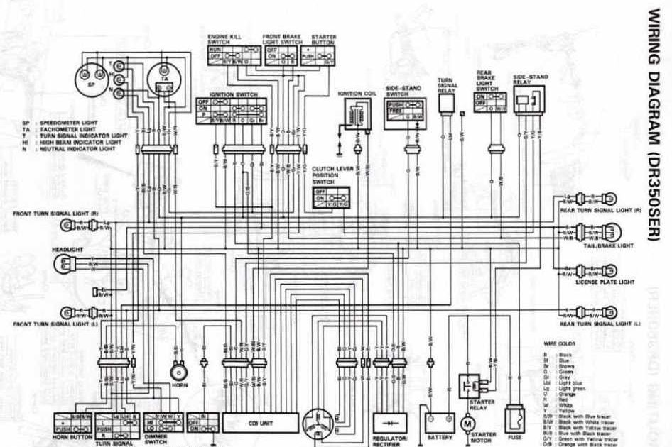 Suzuki DR350S Electrical Wiring Diagram | All about Wiring Diagrams