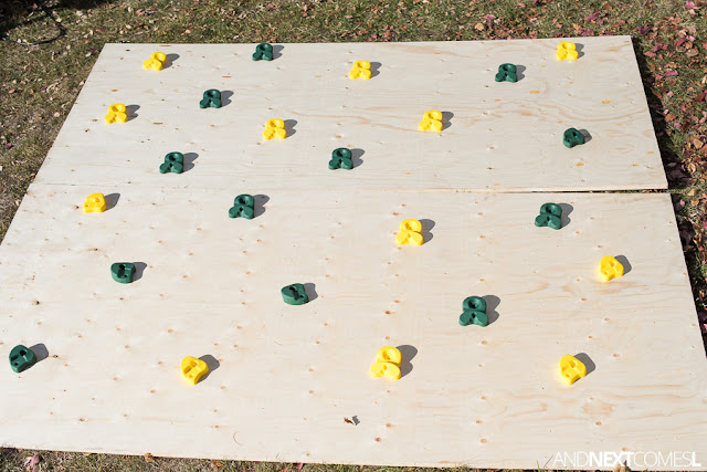 DIY climbing wall for kids tutorial {step-by-step}