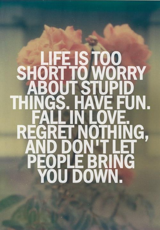 Quotes About Saying Stupid Things: Life Is Too Short To Worry About Stupid