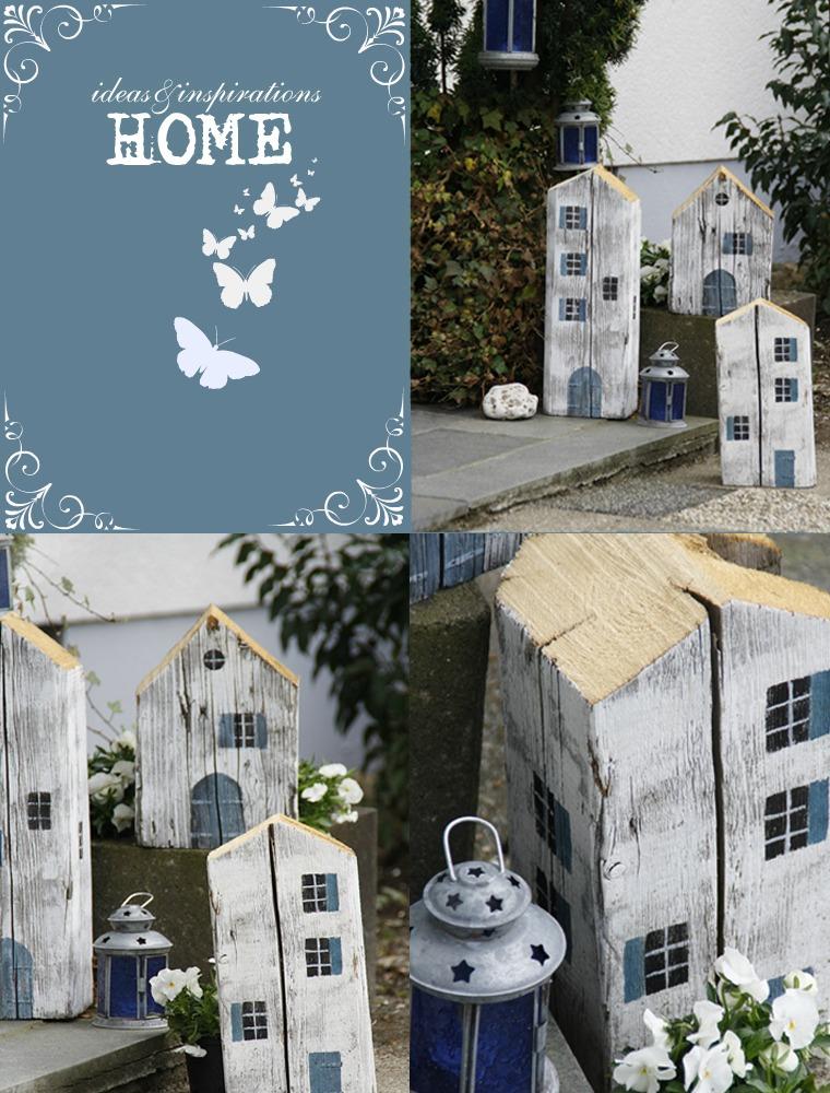 Dekorative Häuser aus Holz für den Garten