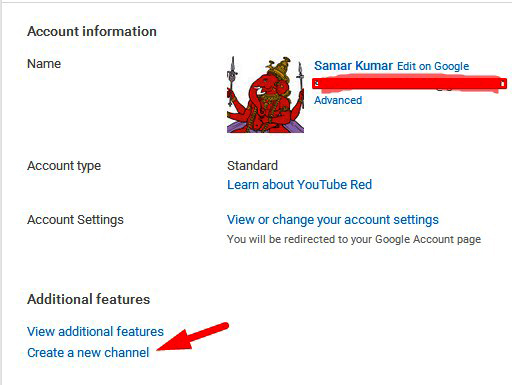 youtube me 2 account banaye 1 email i.d se