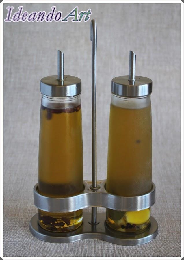 Aceite aromatizado casero