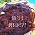 Receita de bolo fit de biomassa com cacau e coco