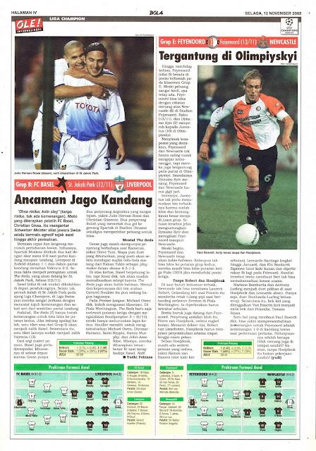 FC BASEL VS LIVERPOOL ANCAMAN JAGO KANDANG