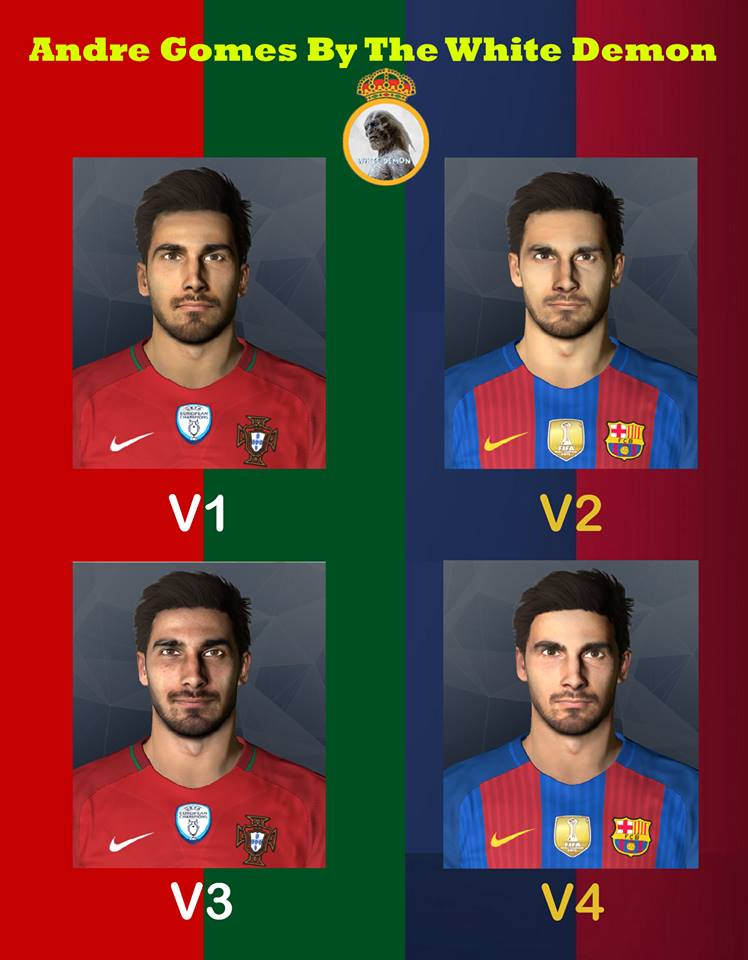 Andre Gomes PES 2017 By The White Demon
