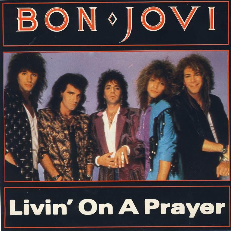Bon Jovi Livin On A Prayer Guitar Chords Lyrics Kunci Gitar