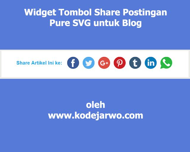 Membuat Widget Tombol Share Post Pure SVG untuk Blog