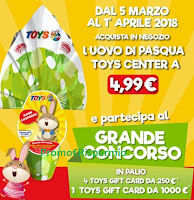 Logo Toys Center: vinci Gift Card da 250€ e da 1.000€